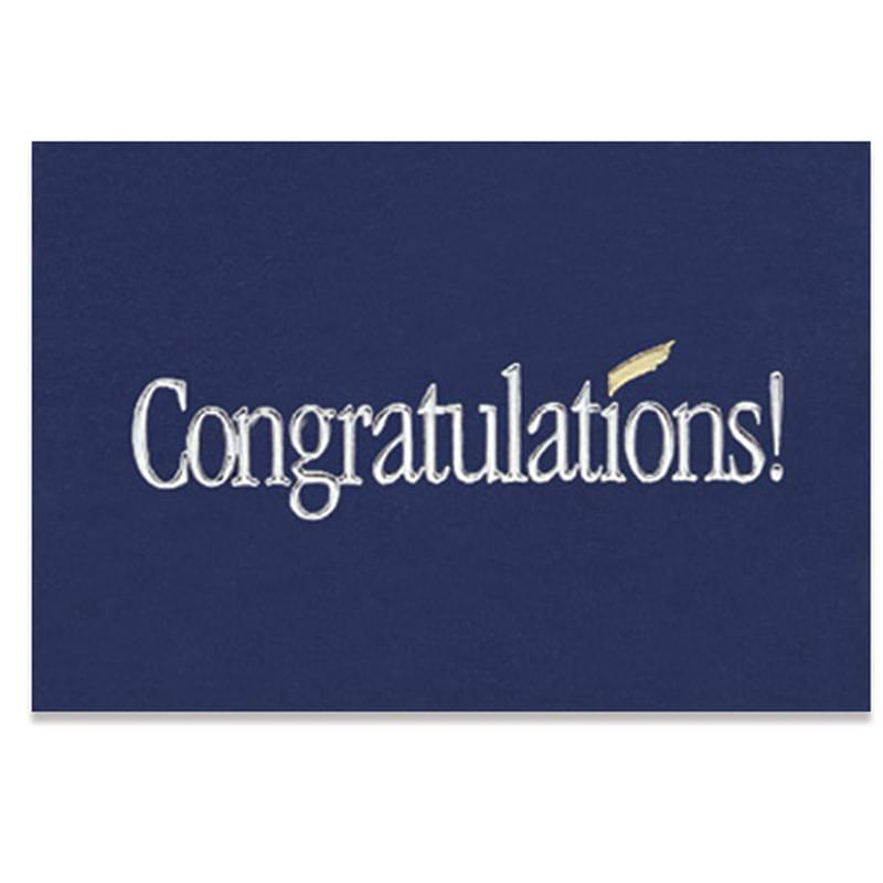 "Blue Congratulations Everyday Blank Note Card (3 1/2""x5"")"