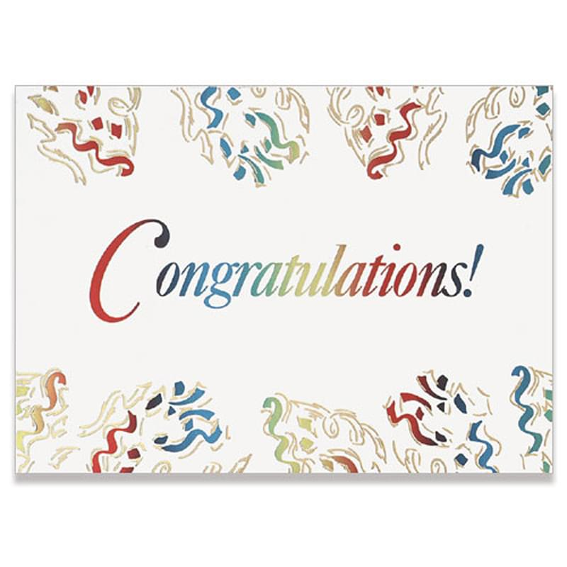 "Congratulations Confetti Everyday Greeting Card (5""x7"")"