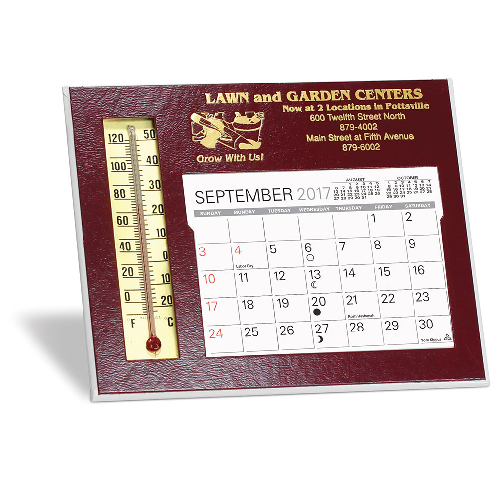 Emissary Desk Calendar w/ Thermometer