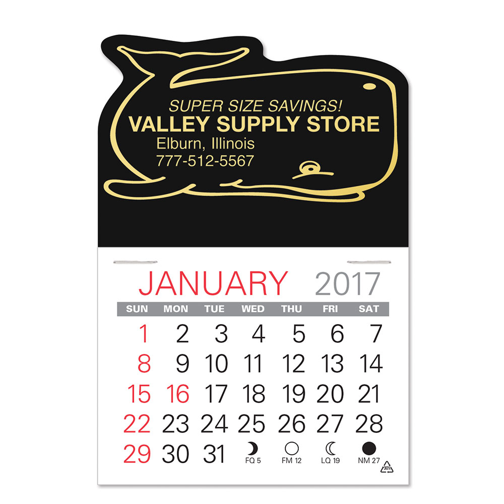 Whale Standard Pad Value Stick Calendar