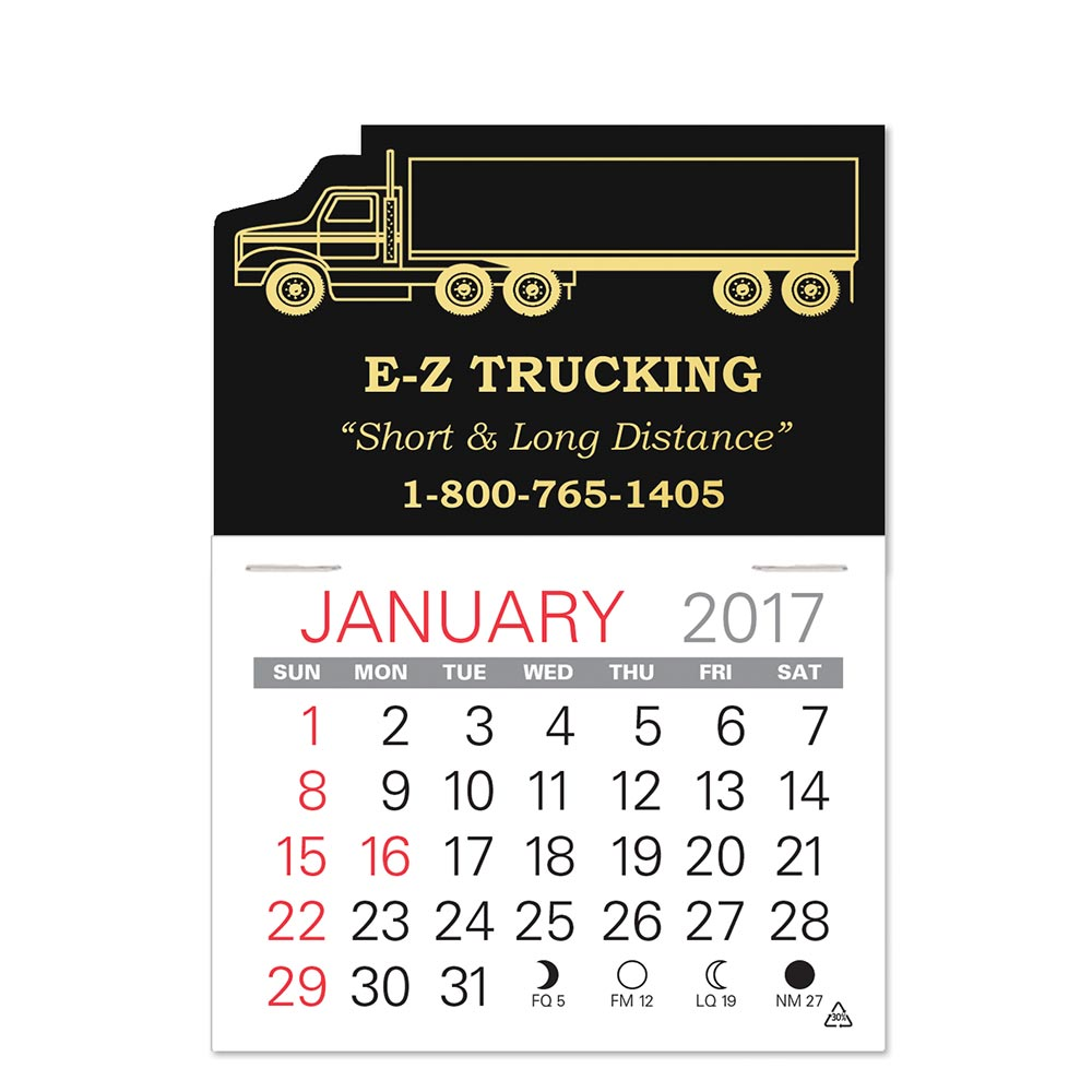 Semi-Truck Standard Pad Value Stick Calendar