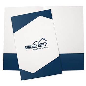 Legal Size Pocket Folder Ink Printed - Standard White Paper