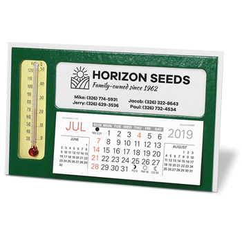 Window Premier Desk Calendar with Thermometer