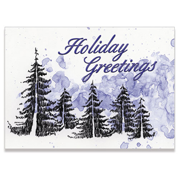 "Holiday Forest Illustration Holiday Greeting Card (5""x7"")"