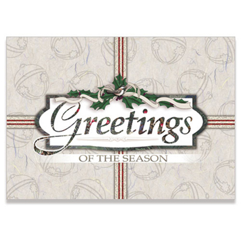 "Holiday Present with Greetings Holiday Greeting Card (5""x7"")"