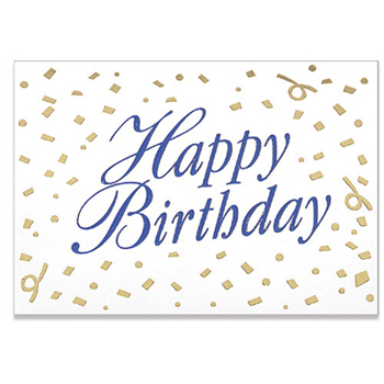 "Happy Birthday Confetti Everyday Blank Note Card (3 1/2""x5"")"