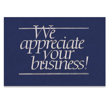 "We Appreciate Your Business Everyday Blank Note Card (3 1/2""x5"")"