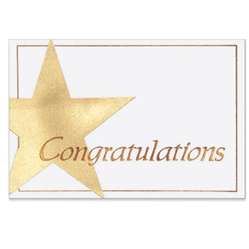 "Congratulations Everyday Blank Note Card (3 1/2""x5"")"