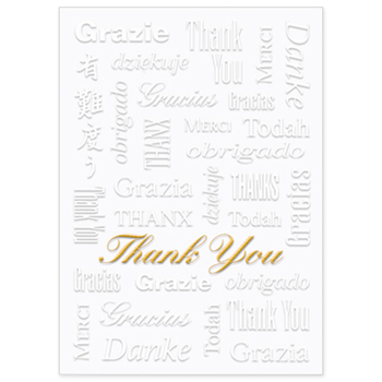 "White Thank You Everyday Greeting Card (5""x7"")"