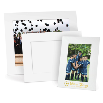 "White Smooth Picture Frame with Easel (4""x6"")"