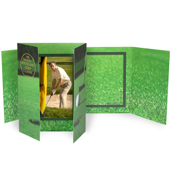 "Vertical Golf Gatefold Event Folder (5""x7"")"